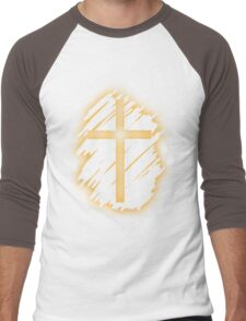 Jesus Christ Son of God Lord Crucifix Men's Baseball ¾ T-Shirt