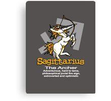 Sagittarius The Archer Canvas Print