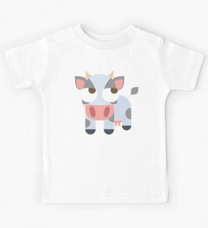Cow Emoji Thinking Hard and Hmm Look Kids Tee