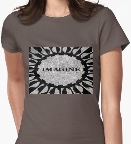 Imagine Mosaic, Central Park, New York, NY Womens Fitted T-Shirt