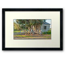 Family Bike Ride..... Framed Print