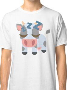 Cow Emoji Sleepy and ZZZ Face Classic T-Shirt