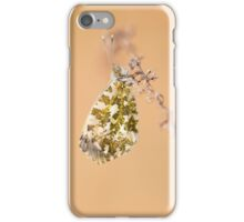 Impression with white-green butterfly iPhone Case/Skin