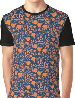 California Poppies on Blue Graphic T-Shirt