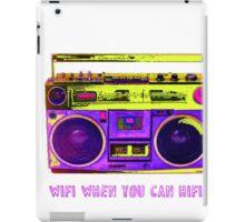 RETRO 80S BOOMBOX WIFI HIFI iPad Case/Skin