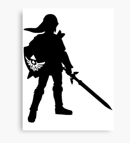 The Legend of Zelda Link Silhouette Canvas Print