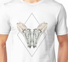 The Geometric Mirrored Skull  Unisex T-Shirt