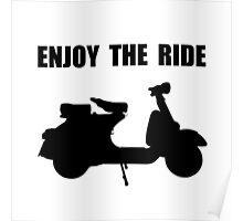 Enjoy Ride Moped Poster