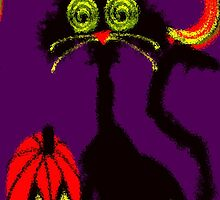 crazy eyes the halloween cat by Maureen Zaharie