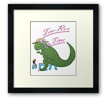 Tea-rex Time Framed Print
