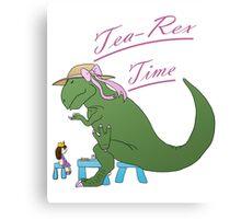 Tea-rex Time Canvas Print