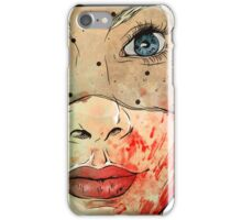Woman face iPhone Case/Skin