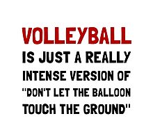 Volleyball Balloon Photographic Print