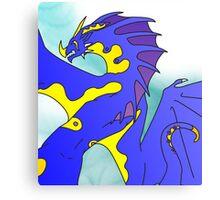 Tribal Water Dragon (Light) Canvas Print