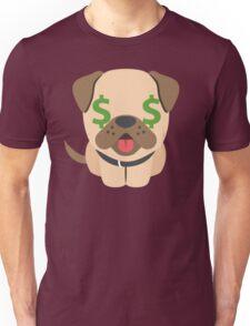 Bulldog Emoji Money Face Unisex T-Shirt