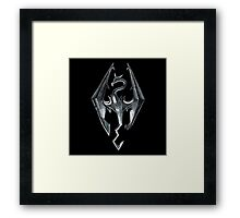 Skyrim - Dragon Symbol Framed Print