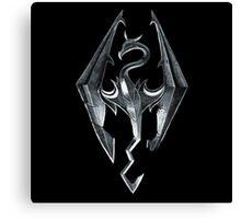 Skyrim - Dragon Symbol Canvas Print