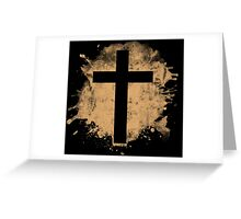 Jesus Christ Son of God Lord Crucifix Greeting Card