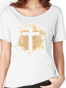 Jesus Christ Son of God Lord Crucifix Women's Relaxed Fit T-Shirt