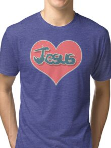 Love Jesus Christ Son of God Lord Crucifix Tri-blend T-Shirt