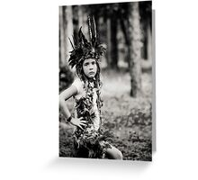 Child Forest Portrait 3 Greeting Card