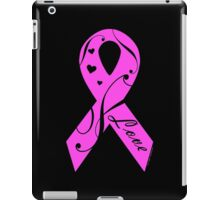 Pink Breast Cancer Ribbon With Love  iPad Case/Skin