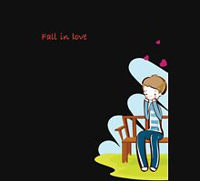 Fall In Love Couples Design (For Him) T-Shirt