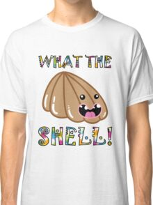 Cute Pets: What the Shell! Funny Seashell Classic T-Shirt