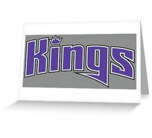 kings text Greeting Card