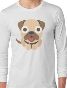Bulldog Emoji Shocked and Surprised Look Long Sleeve T-Shirt