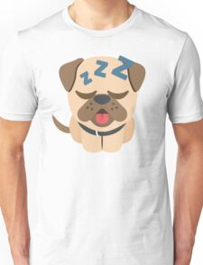 Bulldog Emoji Sleepy and ZZZ Face Unisex T-Shirt