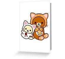 Neko Rilakkuma & Korilakkuma Greeting Card