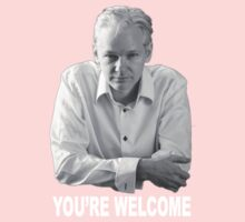 Julian Assange - You're Welcome. One Piece - Short Sleeve