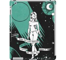 When you close your eyes iPad Case/Skin