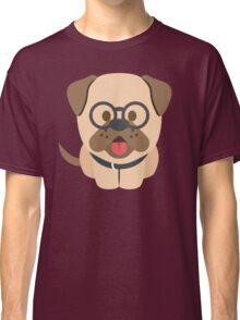 Bulldog Emoji Nerdy Spectacles Look Classic T-Shirt