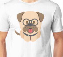 Bulldog Emoji Nerdy Spectacles Look Unisex T-Shirt