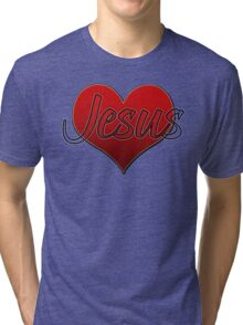Love Jesus Christ Son of God Lord Tri-blend T-Shirt