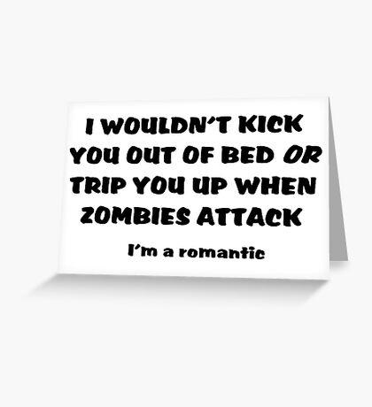 Zombie Bedroom Romance Greeting Card