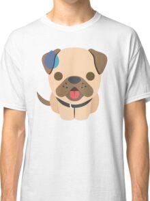 Bulldog Emoji Sweating and Speechless Look Classic T-Shirt