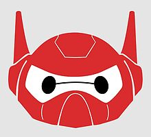 Baymax Head with Helmet by Ztw1217
