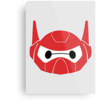 Baymax Head with Helmet Metal Print