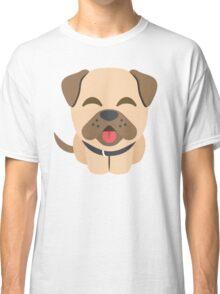Bulldog Emoji Happy Smiling Face Classic T-Shirt