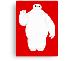 Baymax Waving Canvas Print