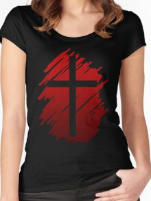 Jesus Christ Son of God Lord Cross Women's Fitted Scoop T-Shirt