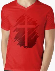 Jesus Christ Son of God Lord Cross Mens V-Neck T-Shirt