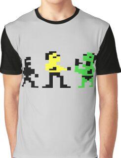 Bruce Lee Crew Posing Graphic T-Shirt