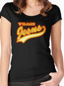 Team Jesus Christ Son of God Lord Women's Fitted Scoop T-Shirt