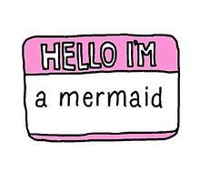 Mermaid Name Tag by princesscareee
