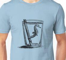 Seepferdchen im Wasserglas - schwarz Unisex T-Shirt