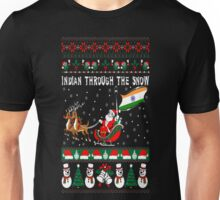 Indian Through The Snow Christmas Ugly Sweater T-Shirt Unisex T-Shirt